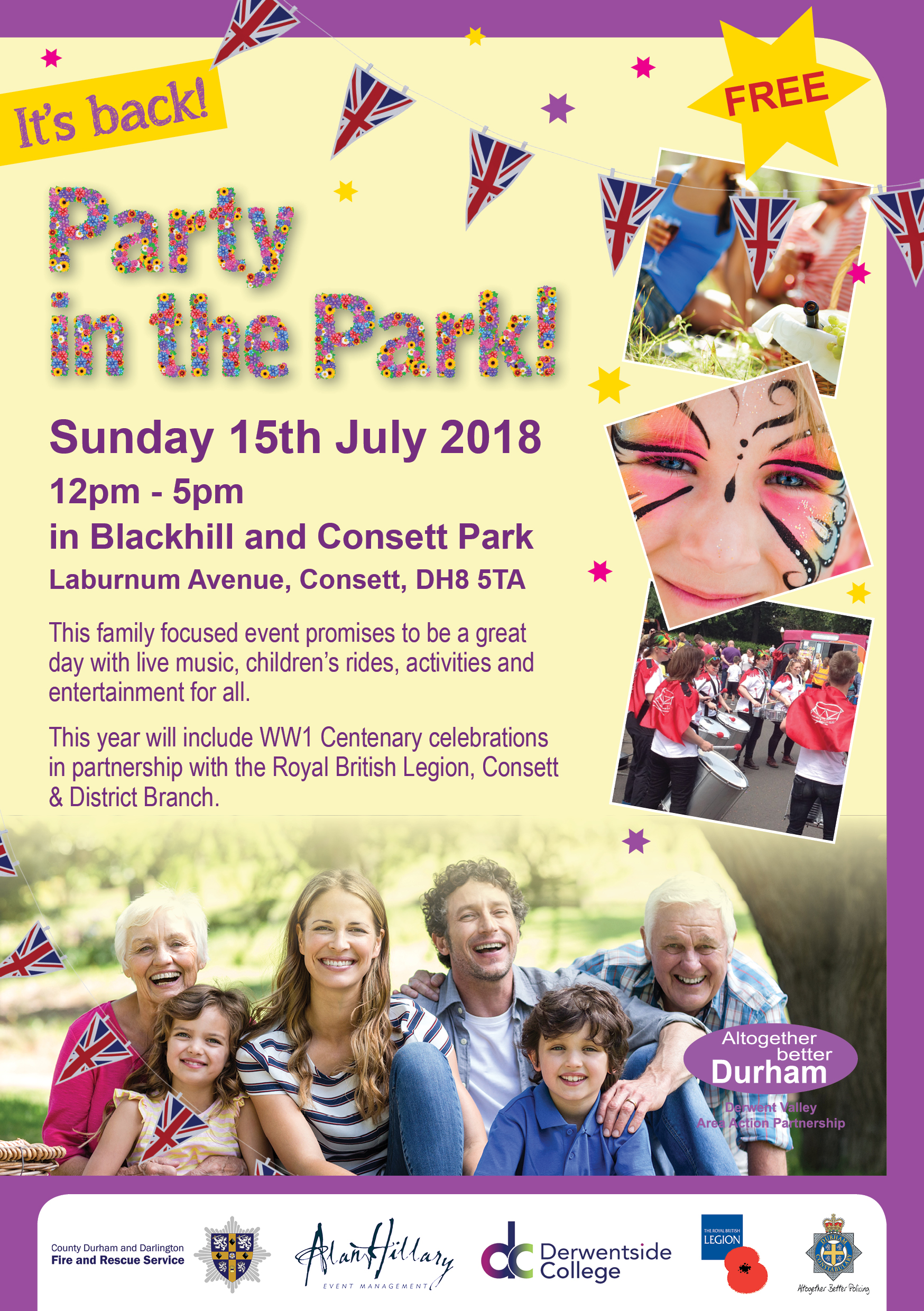 44240 AAP A5 Party in the Park Flyer 2018